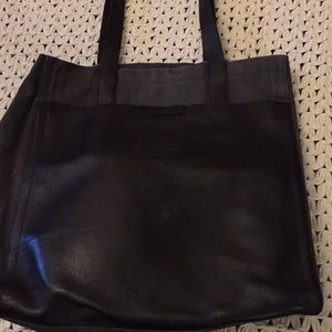 d130f375b6 Armani Exchange leather tote black